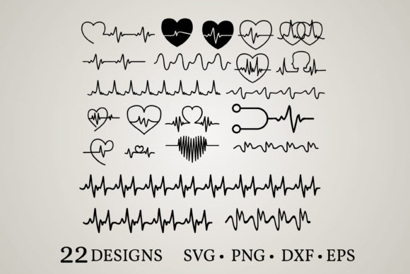 Heartbeat Bundle Grafik Druck-Templates von Euphoria Design