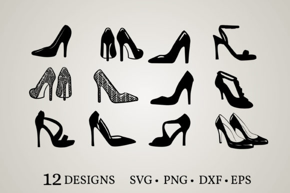 Heels Clipart Graphic Print Templates By Euphoria Design