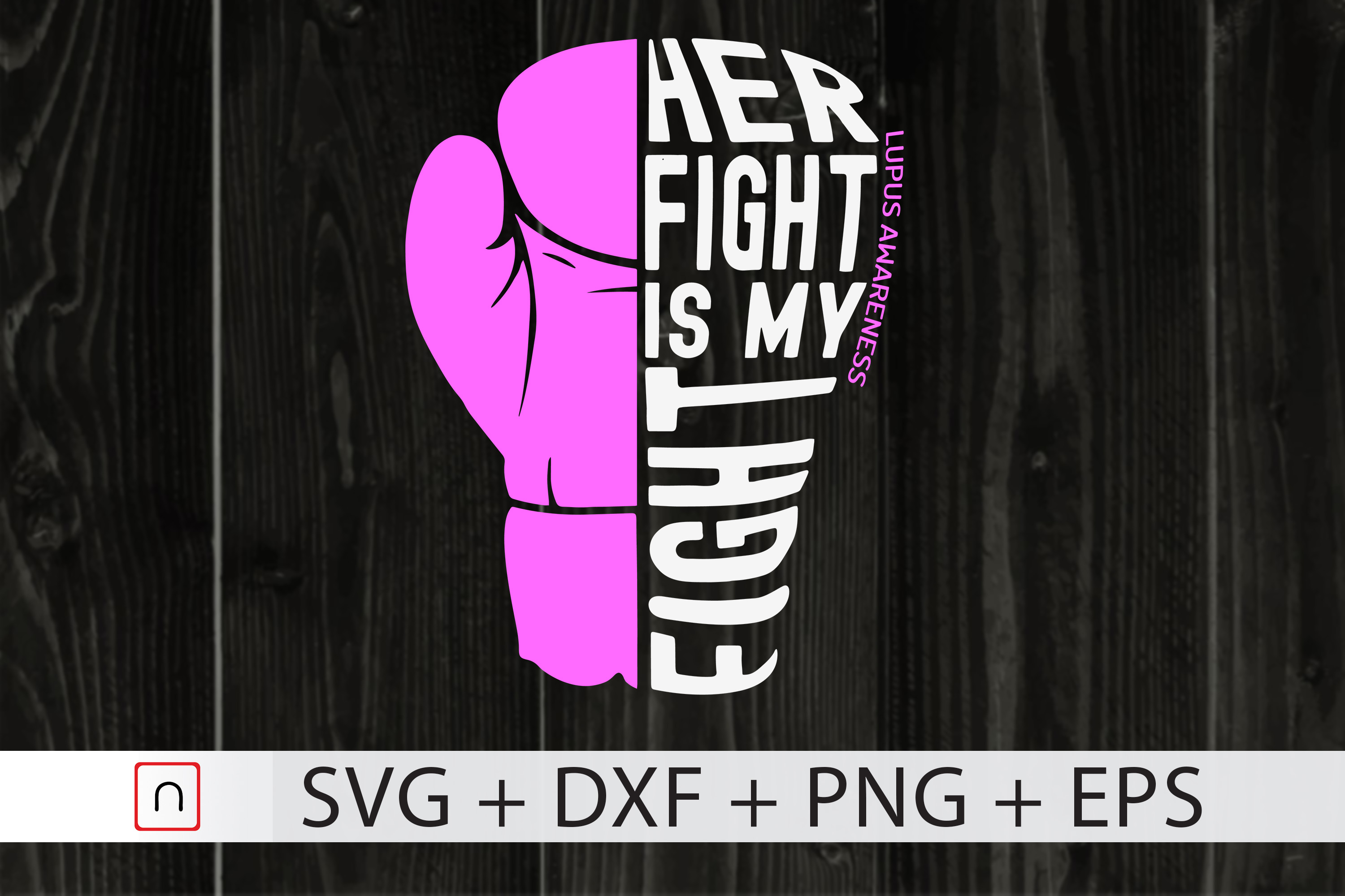 Download Free Her Fight Is My Fight Lupus Graphic By Novalia Creative Fabrica for Cricut Explore, Silhouette and other cutting machines.