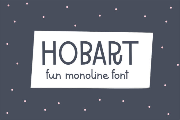 Print on Demand: Hobart Display Font By sunday nomad