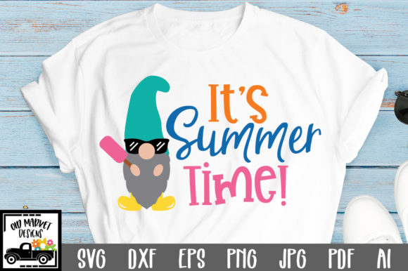 Download Free It S Summer Time Cut File Graphic By Oldmarketdesigns Creative for Cricut Explore, Silhouette and other cutting machines.