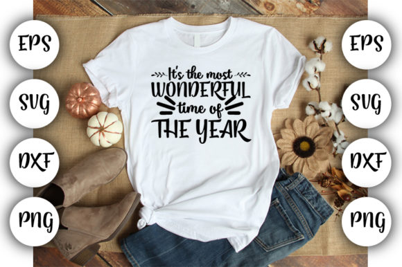 Download Free It S The Most Wonderful Time Of The Year Graphic By Design Store for Cricut Explore, Silhouette and other cutting machines.