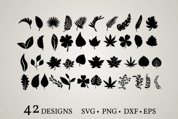 Leaf Clipart Graphic Print Templates By Euphoria Design