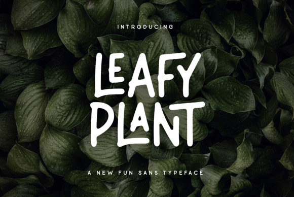 Print on Demand: Leafy Plant Display Font By Wandery Supply