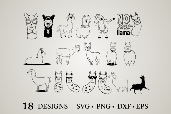 Llama Clipart Graphic Print Templates By Euphoria Design