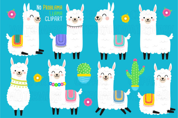 Llama Clipart Graphic Illustrations By magreenhouse