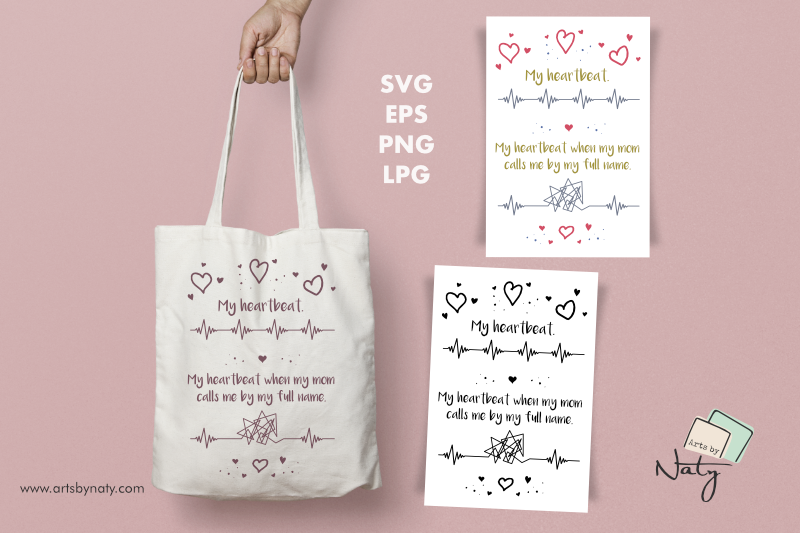 Download Free Mom A Funny Moment And Heartbeats Graphic By Artsbynaty SVG Cut Files