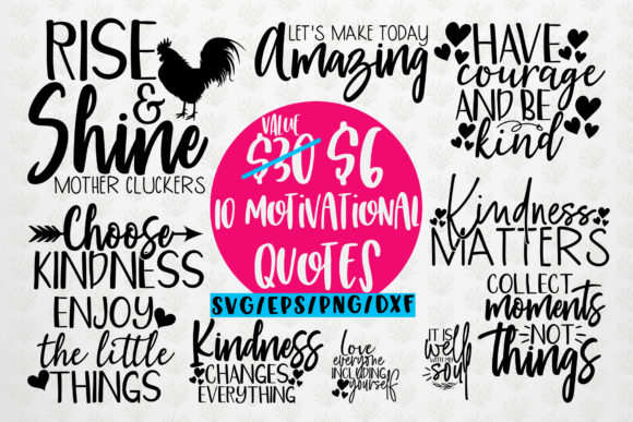 Download Free Motivational Quote Bundle Svg Eps Dxf Grafico Por Coralcutssvg Creative Fabrica for Cricut Explore, Silhouette and other cutting machines.