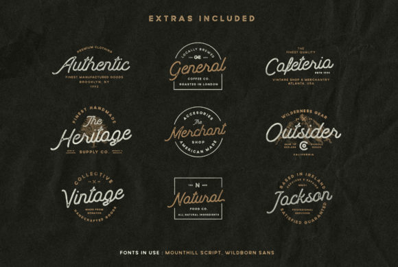Download Free Mounthill Font By Wandery Supply Creative Fabrica for Cricut Explore, Silhouette and other cutting machines.