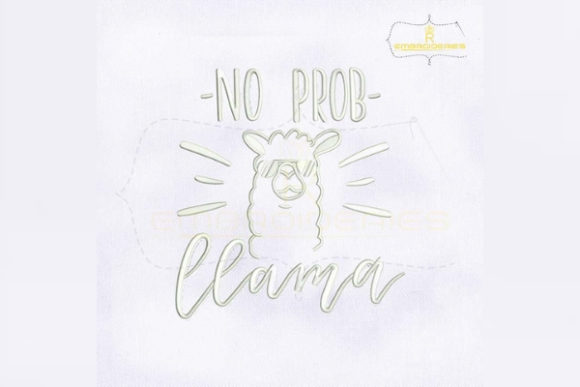 No Prob Llama Wild Animals Embroidery Design By RoyalEmbroideries