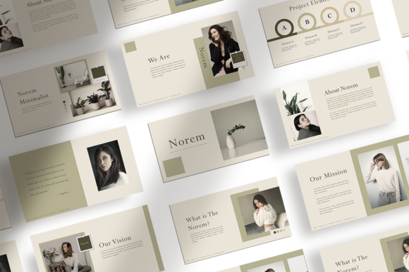 Download Free Norem Presentation Template Graphic By Ovoz Graphics for Cricut Explore, Silhouette and other cutting machines.