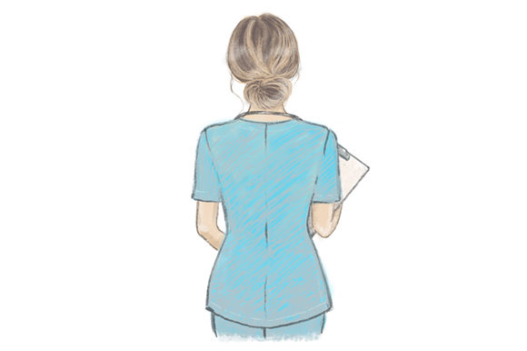 Nurse Hand Drawn Illustration Graphic Illustrations By MaddyZ