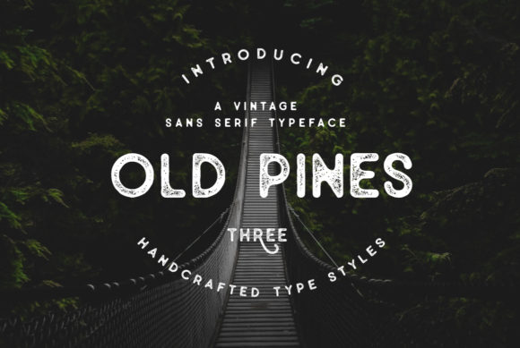 Print on Demand: Old Pines Sans Serif Font By Wandery Supply