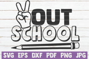Download Free Out School Graphic By Mintymarshmallows Creative Fabrica for Cricut Explore, Silhouette and other cutting machines.