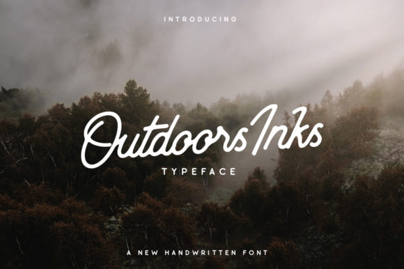 Print on Demand: Outdoors Inks Script & Handwritten Font By Wandery Supply