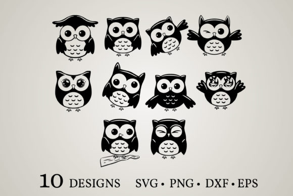 Owl Vector Bundle  Grafik Druck-Templates von Euphoria Design