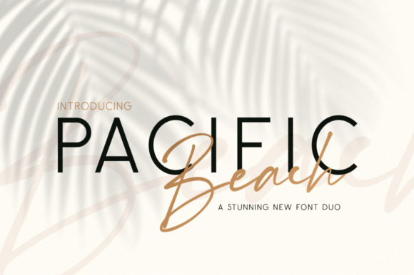 Print on Demand: Pacific Beach Manuscrita Fuente Por Salt & Pepper Designs