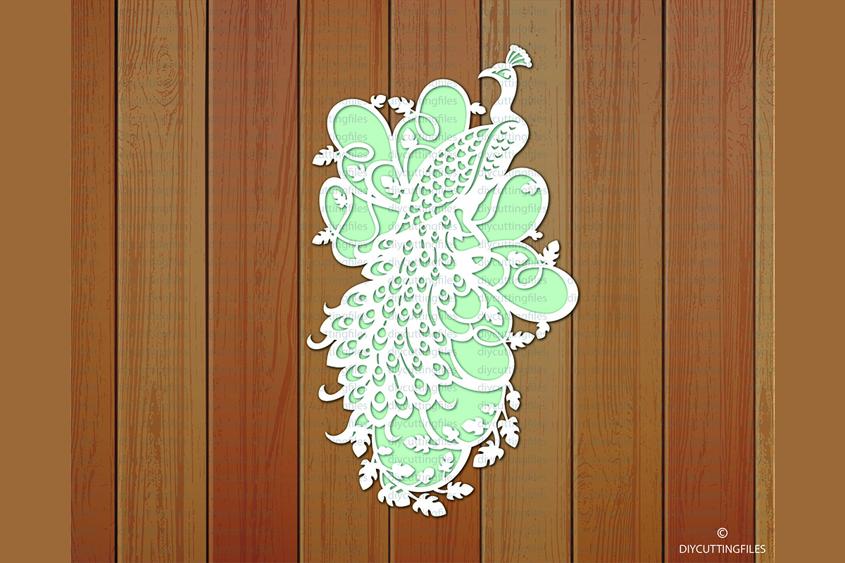 Download Free Peacock Paper Cut Template Graphic By Diycuttingfiles Creative for Cricut Explore, Silhouette and other cutting machines.