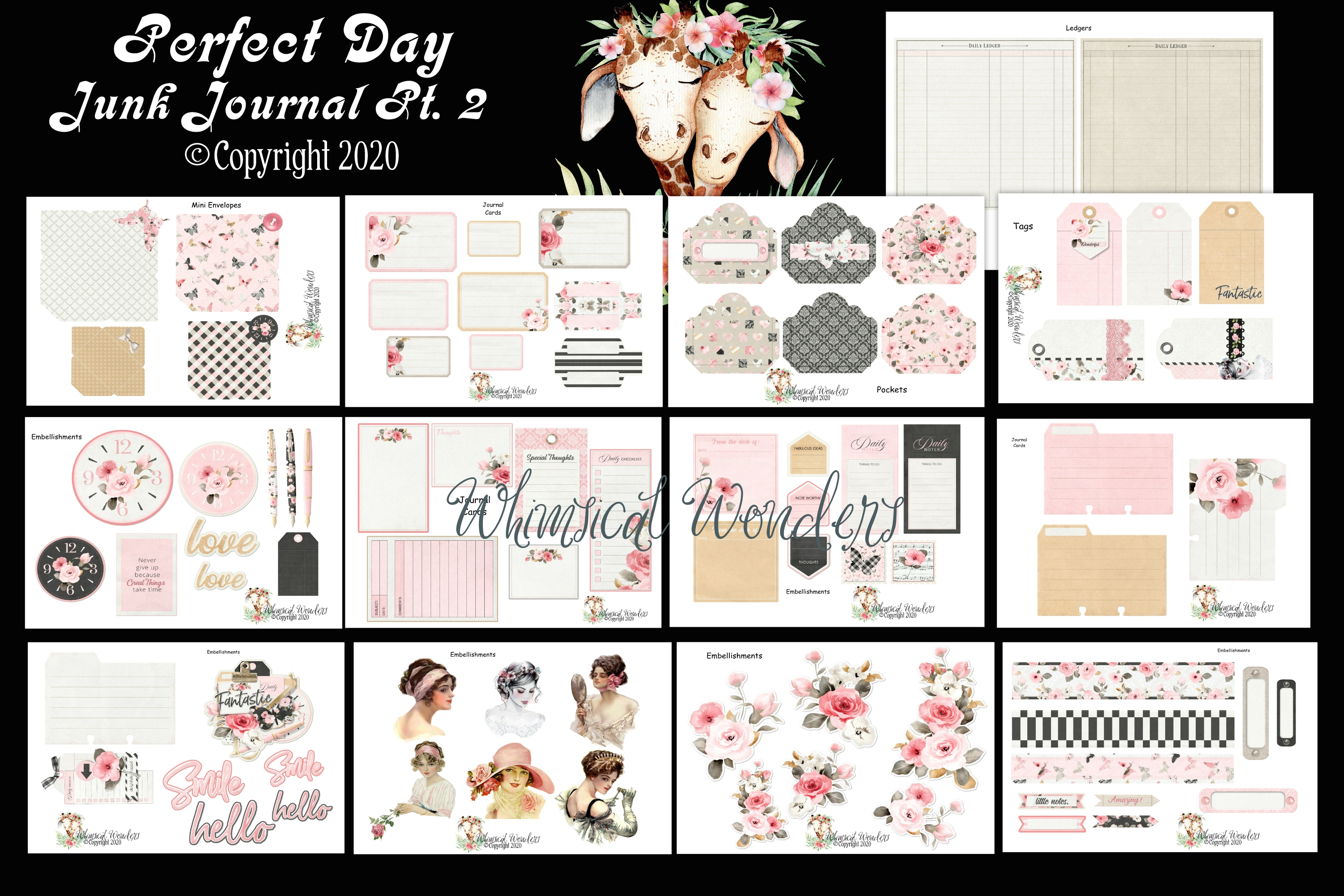 Download Free Perfect Day Junk Journal Pt 2 Graphic By Wwdpaulymac2020 Creative Fabrica for Cricut Explore, Silhouette and other cutting machines.