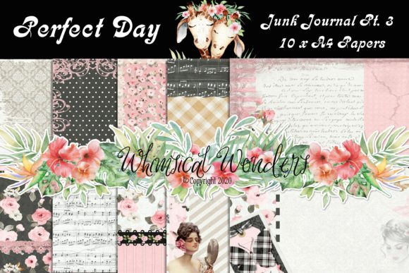 Download Free Perfect Day Junk Journal Pt 3 Papers Graphic By Wwdpaulymac2020 for Cricut Explore, Silhouette and other cutting machines.