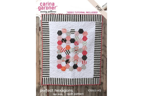 Perfect Hexagon Quilt Graphic Quilt Patterns By carina2