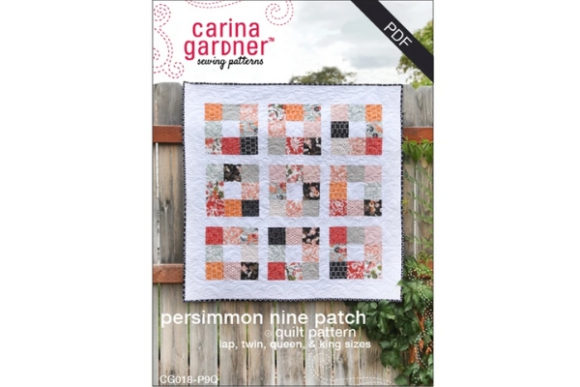 Persimmon Nine Patch Quilt Graphic Quilt Patterns By carina2 - Image 1