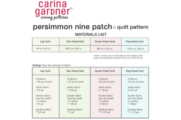 Persimmon Nine Patch Quilt Graphic Quilt Patterns By carina2 - Image 2