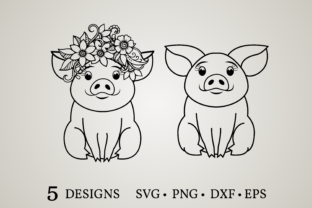 Cute Pig Graphic Crafts By Euphoria Design
