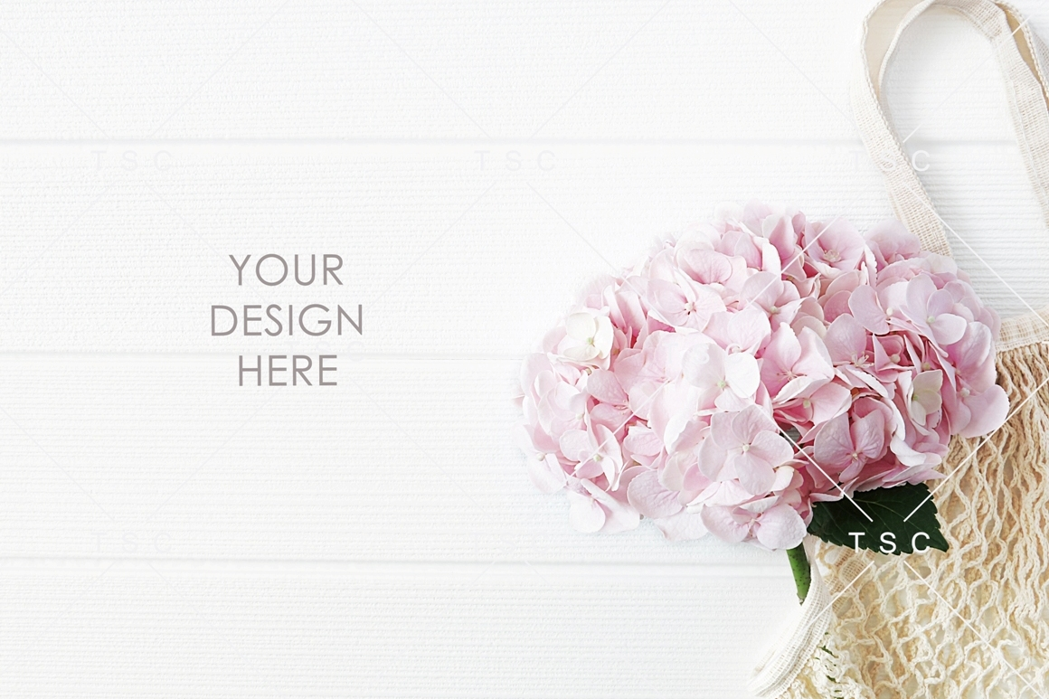 Download Free Pink Hydrangea Stock Photo Graphic By Thesundaychic Creative for Cricut Explore, Silhouette and other cutting machines.