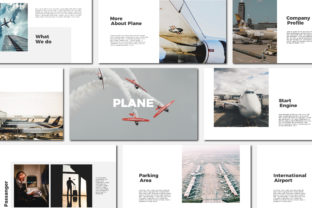 Print on Demand: Plane - Keynote Templates Graphic Presentation Templates By Amarlettering