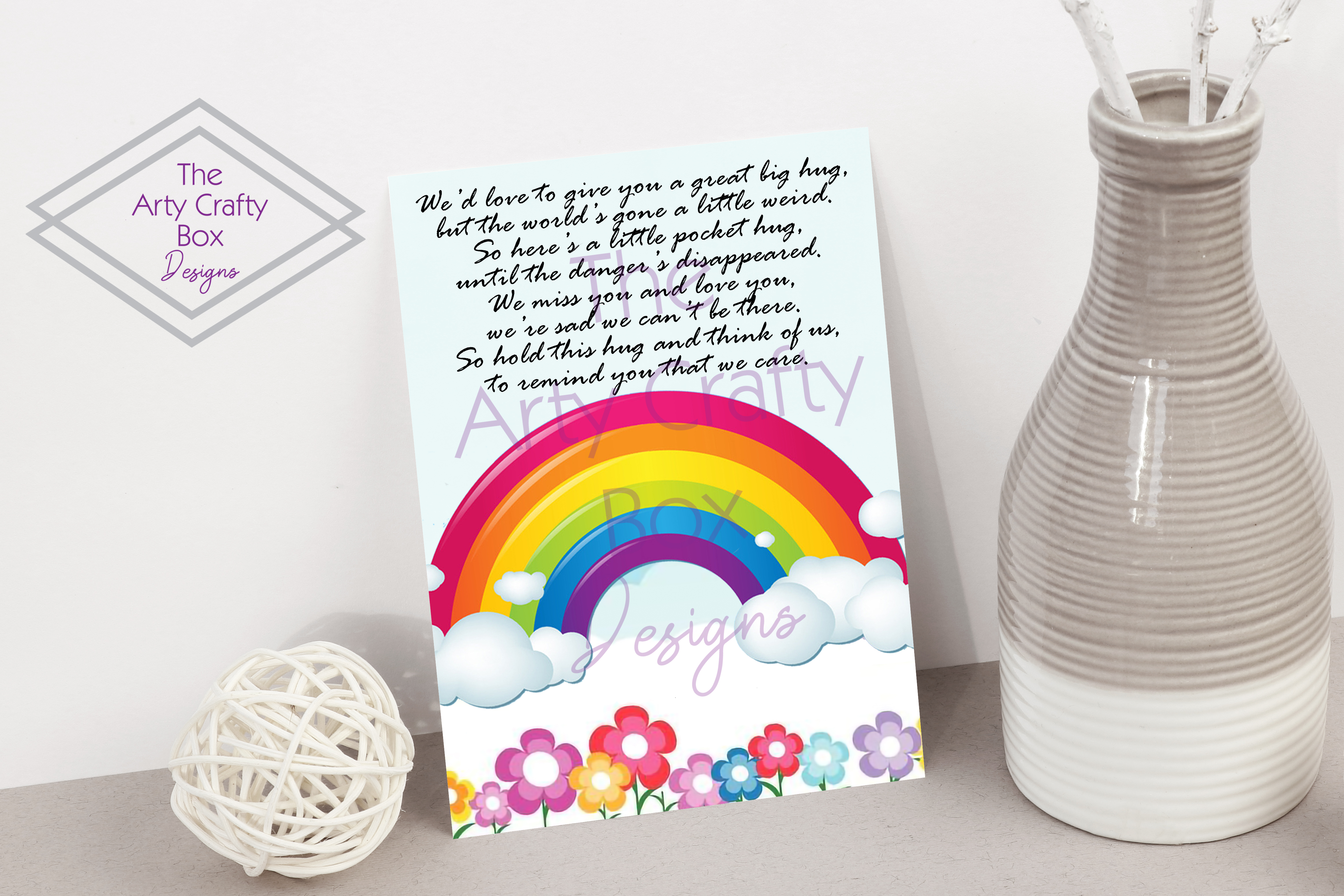 Download Free Pocket Hug With Poem Graphic By The Arty Crafty Box Designs for Cricut Explore, Silhouette and other cutting machines.