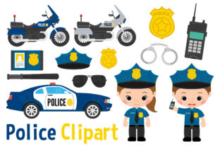 Police Clipart Graphic Illustrations By magreenhouse