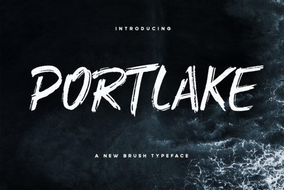 Print on Demand: Portlake Display Font By Wandery Supply