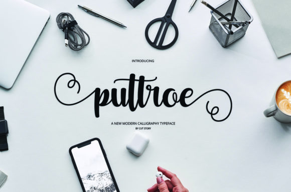 Print on Demand: Puttroe Script & Handwritten Font By Cut Story