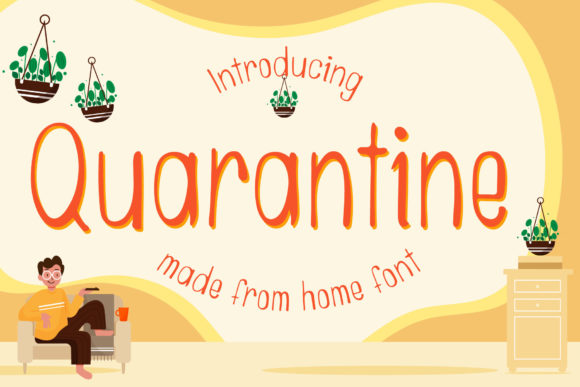Print on Demand: Quarantine Script & Handwritten Font By numnim