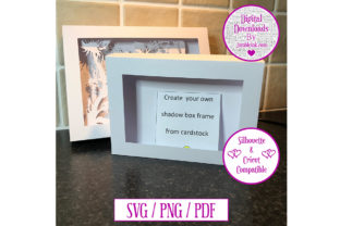 Rectangle Scalable Card Shadow Box Frame Graphic 3D Shadow Box By Jumbleink Digital Downloads