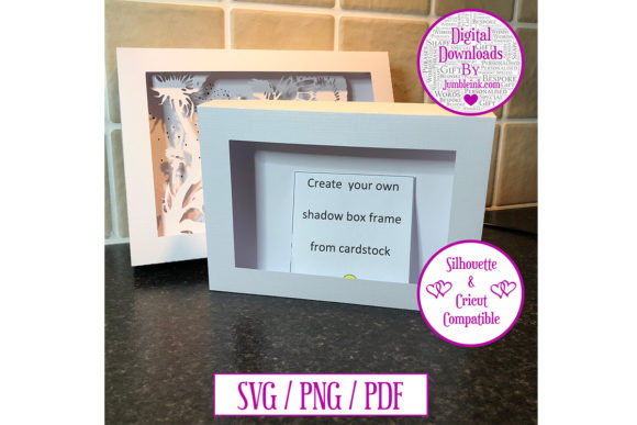 Rectangle Scalable Card Shadow Box Frame Grafik 3D Schattenbox von Jumbleink Digital Downloads