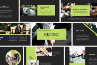 Print on Demand: Report Business - Google Slides Graphic Presentation Templates By Amarlettering