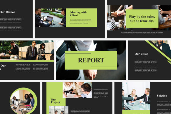 Print on Demand: Report Business - Keynote Templates Graphic Presentation Templates By Amarlettering