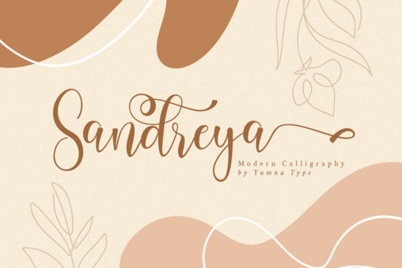 Print on Demand: Sandreya Script & Handwritten Font By Yumna_Type