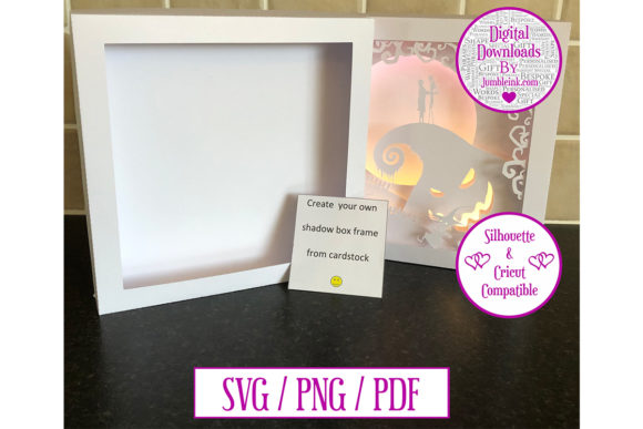 Scalable Card Shadow Box Frame Template Gráfico SVG en 3D Por Jumbleink Digital Downloads