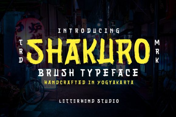 Print on Demand: Shakuro Display Font By letterhend