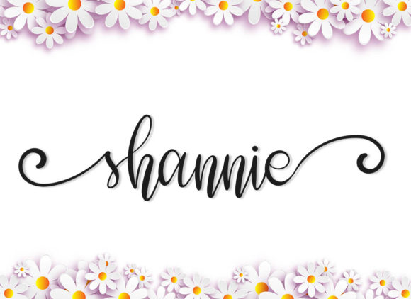 Print on Demand: Shannie Script & Handwritten Font By niyos.studio