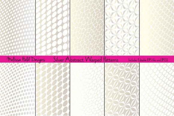 Silver Abstract Warped Patterns Graphic By Melissa Held Designs