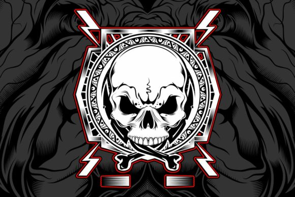 Download Free Skull Hand Drawing Vector Graphic By Epic Graphic Creative Fabrica for Cricut Explore, Silhouette and other cutting machines.