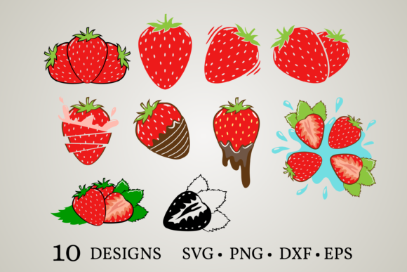 Strawberry Clipart Graphic Print Templates By Euphoria Design