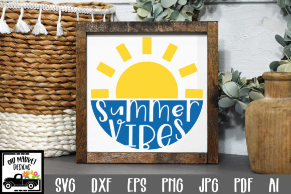 Download Free Summer Vibes Graphic By Oldmarketdesigns Creative Fabrica for Cricut Explore, Silhouette and other cutting machines.