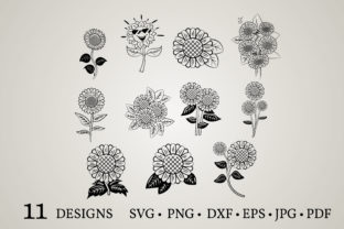 Sunflower Clipart Graphic Crafts By Euphoria Design