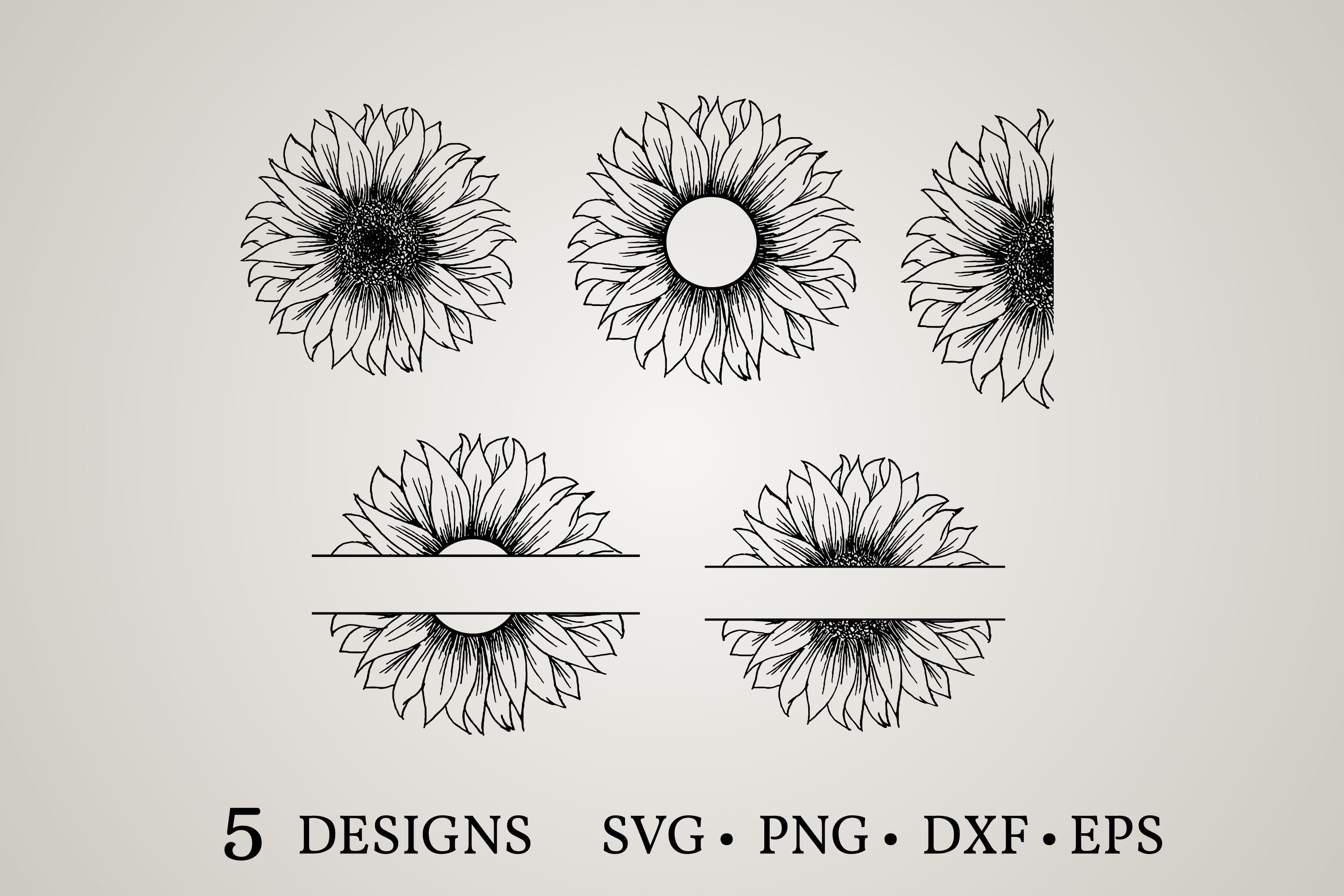 Download Free Sunflower Monogram Graphic By Euphoria Design Creative Fabrica for Cricut Explore, Silhouette and other cutting machines.