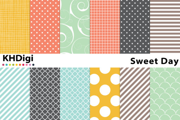 Download Free Grey And Yellow Digital Paper Graphic By Khdigi Creative Fabrica for Cricut Explore, Silhouette and other cutting machines.